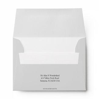 Envelope A6 Light Grey Return Address