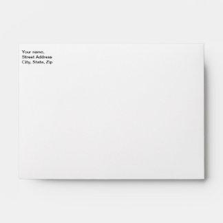 Envelope A6, return address with image