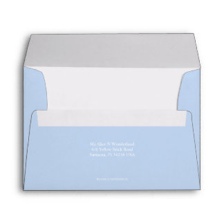 Envelope A7 Baby Blue Return Address