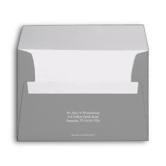 Envelope A7 Dark Grey Return Address