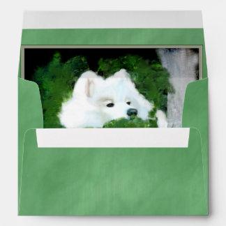 Envelope, A7 Greeting Card, Silk Green-Match Card Envelope