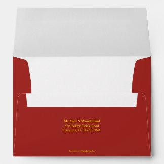 Envelope A7 Indian Red Return Address
