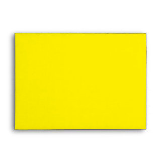 Envelope A7 Lemon Yellow Blank