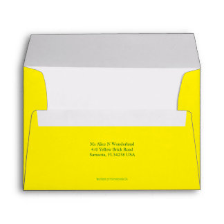 Envelope A7 Lemon Yellow Return Address