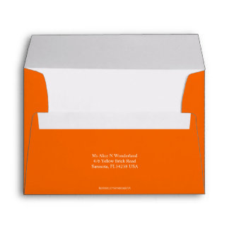 Envelope A7 Orange Earth Return Address
