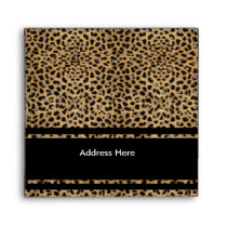 Envelope Animal Leopard Print