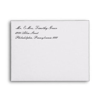 Envelope - Basic 3x5 Wedding Invites