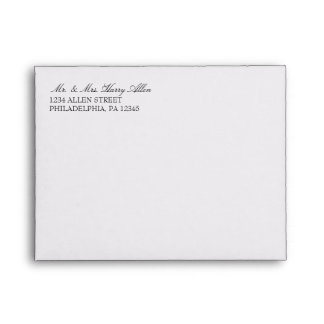 Envelope | Basic 3x5 Wedding Invites |white