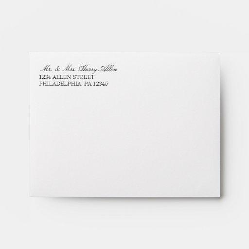 Envelope   Basic 3x5 Wedding Invites  white