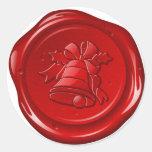 envelope christmas sealing wax classic round sticker
