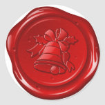 envelope christmas sealing wax round sticker