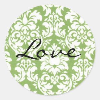 Envelope Closure Seal, Wedding Classic Round Sticker