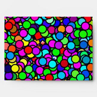 Envelope Colorful Bubbles