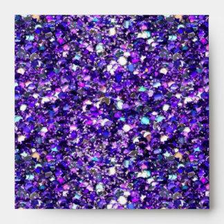 Envelope Faux Purple Teal Blue Glitter