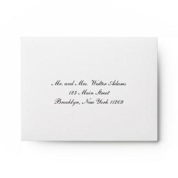 purplepaperinvites Envelope for RSVP Card Wedding Invitation