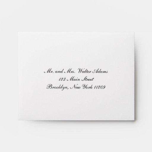 Envelope for RSVP Card Wedding Invitation Envelope