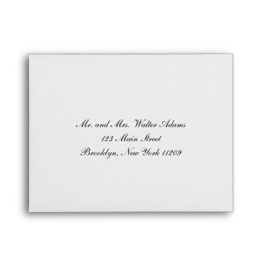 Envelope For Rsvp Card Wedding Invitation Zazzle Com