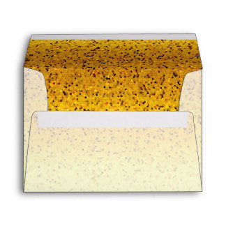 Envelope Glitter Graphic Gold