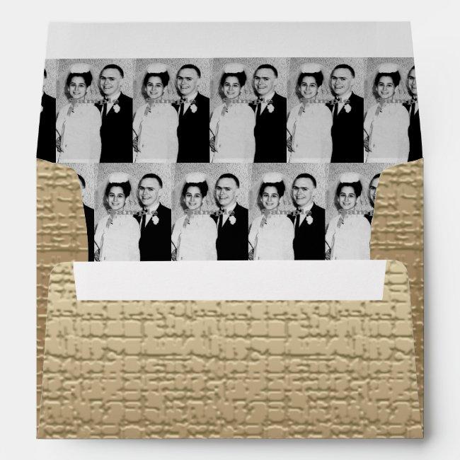 Envelope Golden Anniversary Your Photo Inside
