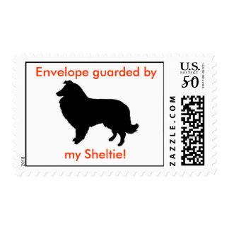 Envelope guarded by my Sheltie Postage