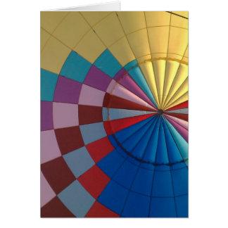 Envelope hot air balloon card