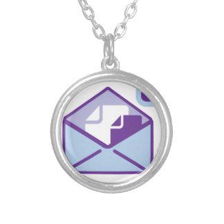 Envelope Icon vector Round Pendant Necklace