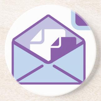 Envelope Icon vector Sandstone Coaster
