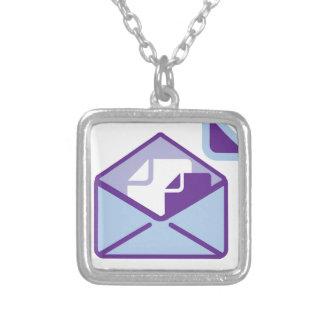 Envelope Icon vector Square Pendant Necklace