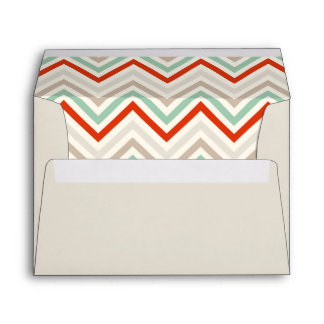 Envelope in sand with chevron print