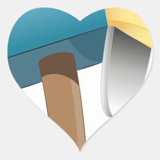 Envelope Letter Stuffed Mailbox Heart Sticker