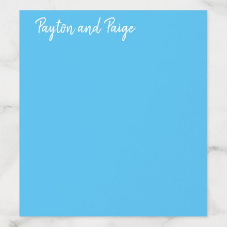 Envelope Liner Typography Sky Blue Wedding Invite