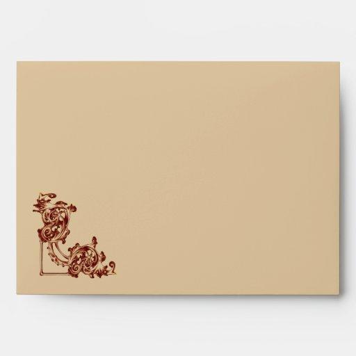 envelope Ornate floral  swirl