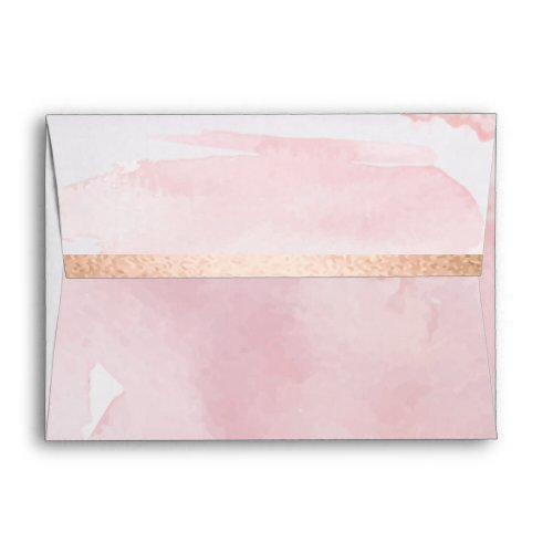 ENVELOPE |  Pastel Blush Watercolor Wash
