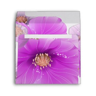 Envelope Purple Pink White Floral Butterfly zazzle_envelope