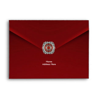 Envelope Red Velvet Diamond Jewel