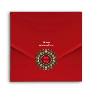 Envelope Red Velvet Jewel