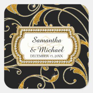Envelope Seal Glam Old Hollywood Regency Black Tie