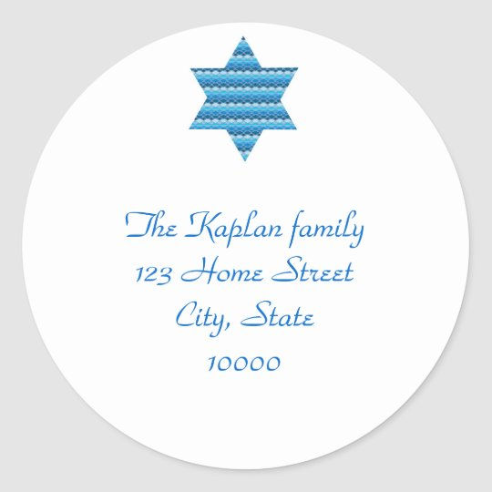 Envelope Seal Jewish Hebrew Star of David