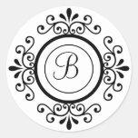 Envelope Seals Monogram B For Wedding Invitaitons Sticker