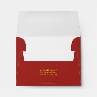 Envelope Size A2 Indian Red Return Address