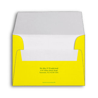 Envelope Size A2 Lemon Yellow Return Address
