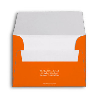 Envelope Size A2 Orange Earth Return Address