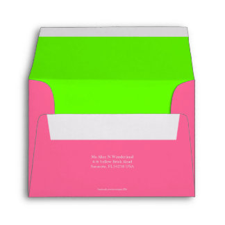 Envelope Size A2 Party Pink Return Address