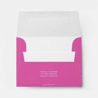 Envelope Size A2 Pink Return Address