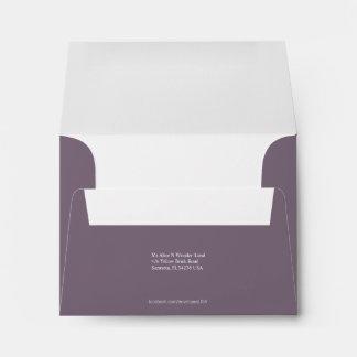 Envelope Size A2 Thistle Grey Return Address