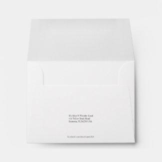 Envelope Size A2 White Return Address