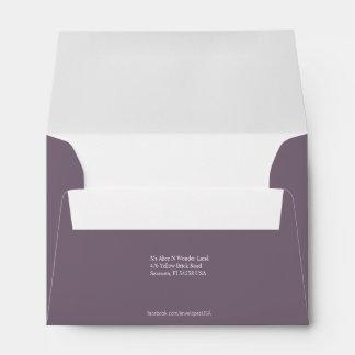 Envelope Size A6 Grey Return Address