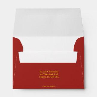 Envelope Size A6 Indian Red Return Address