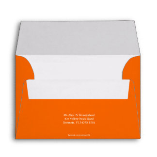 Envelope Size A6 Orange Earth Return Address