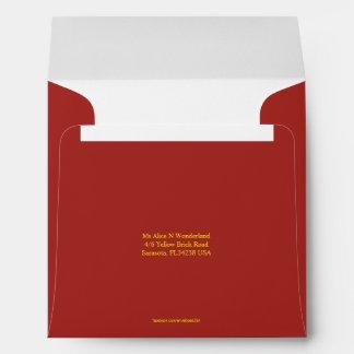 Envelope Square Indian Red Return Address